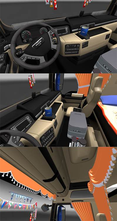 MAN interior with addons