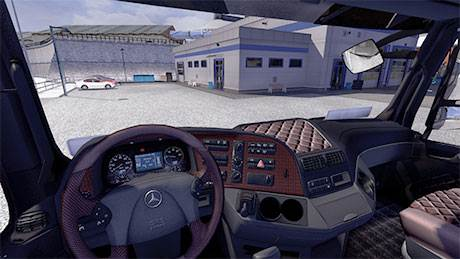 MB Actros MP3 interior with display
