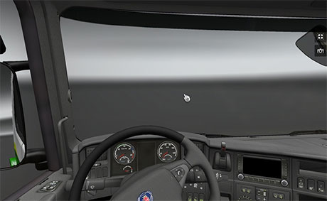 Scania standard interior with GPS