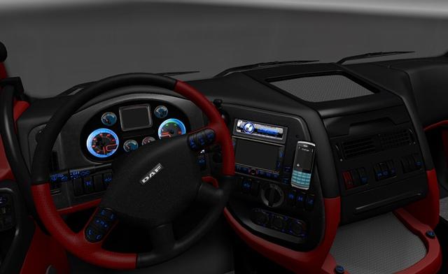 DAF Interior Red & White – ETS2planet.com