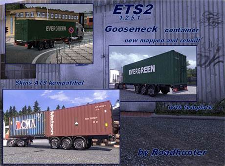 Container trailer gooseneck