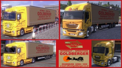 Goldberger Majestic and Iveco truck skins + trailer