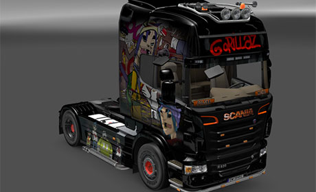 Gorillaz Skin for SCANIA