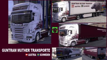 Guntram Muther Transporte Scania truck + trailer