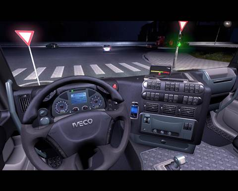 Iveco Interior with blue details