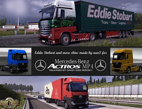Mercedes-Benz Actros MP4 + Eddie Stobart skin