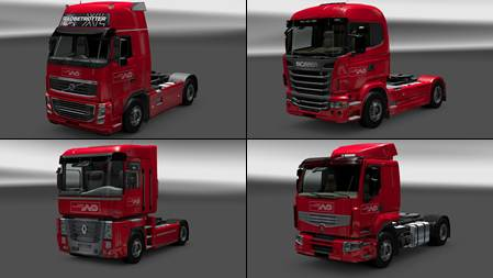 Norbert Dentressangle Skin Pack for all trucks