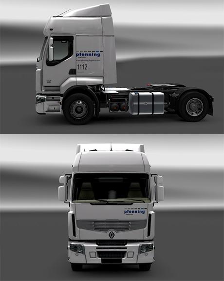 Renault Premium Pfenning Logistics Skin