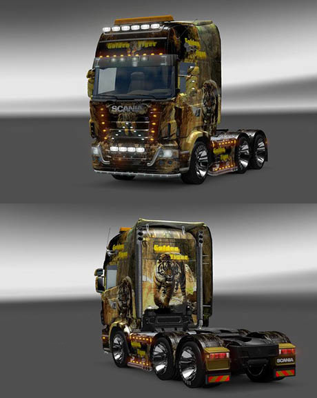 Scania Golden Tiger Skin