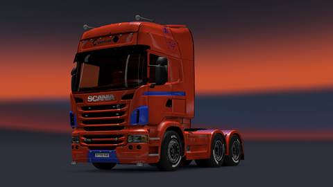 Scania Maserfrakt Logo and color skin