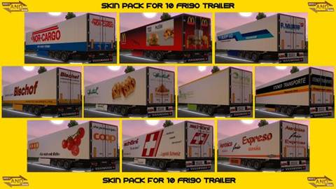 Skin Pack for Friso Trailer