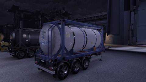 Tank container skins