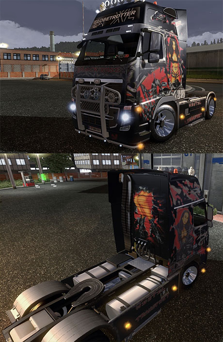 Volvo Black Rose skin