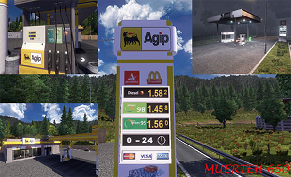 Agip fuel station
