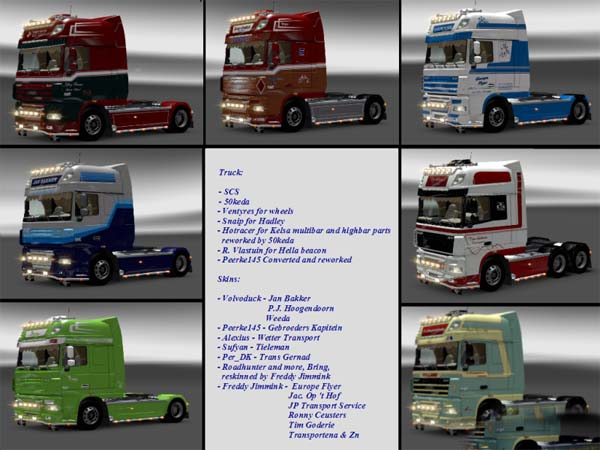 DAF XF 105.510 with 14 Skins