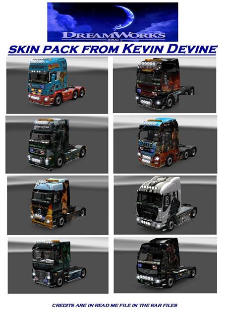 Dreamworks skin pack for various trucks