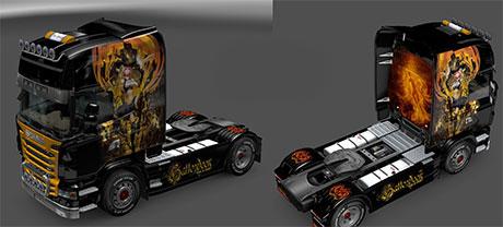 Halloween skin for Scania