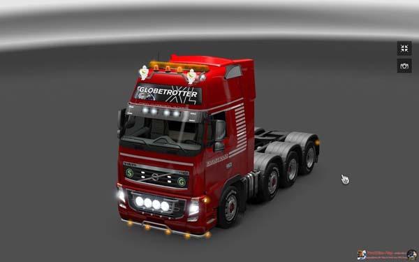 Heavy duty truck Volvo FH16 8x4 Mod