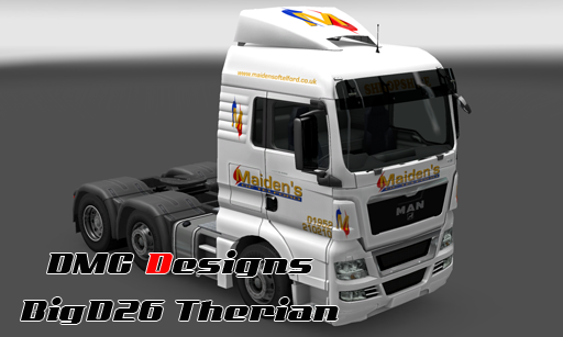 Maiden's of Telford Skin for MAN Truck