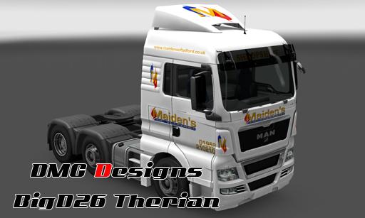 Maiden's of Telford Skin for MAN Truck