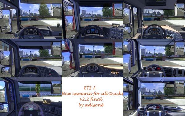 New cameras mod for all trucks v2.2 final