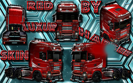 Red Luxur SCANIA Skin
