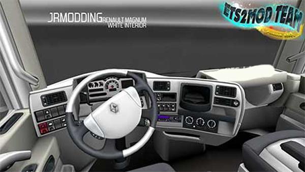 Renault Magnum White Interior