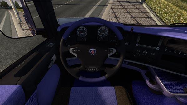 Scania R Custom Blue Interior