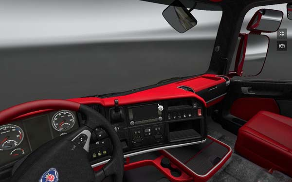 Scania Red-Black Leather interior