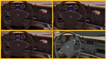 Scania cabin display