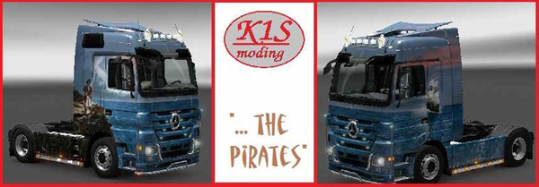 The Pirates Show Actros Truck Skin