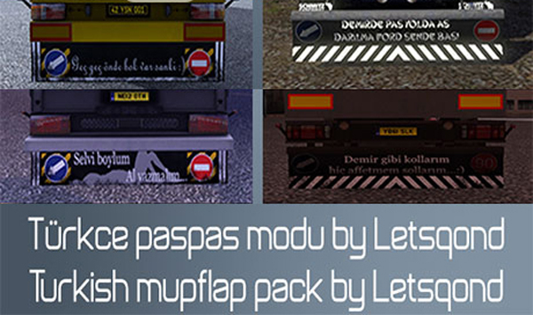 Turkish Mudflap Pack Mod