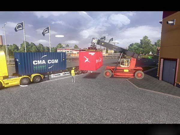 mods 2013 container trailer mod in euro truck simulator