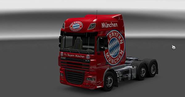 Daf XF FC Bayern Munchen Skin
