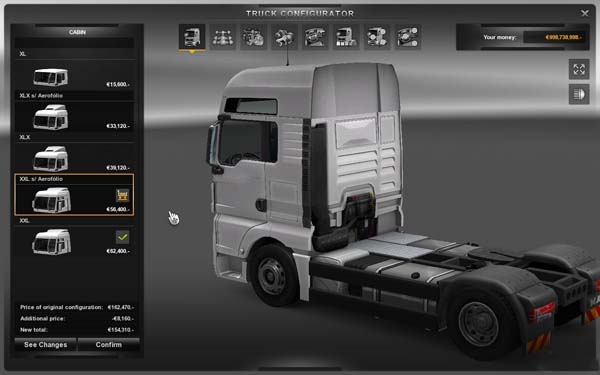 New Cabins for Man TGX without spoiler v2