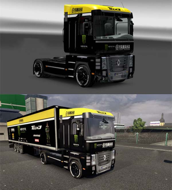Renault Magnum Monster Yamaha Tech 3 Trailer
