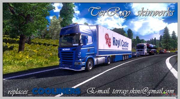 Royl Caster Scania + Schmitz skins