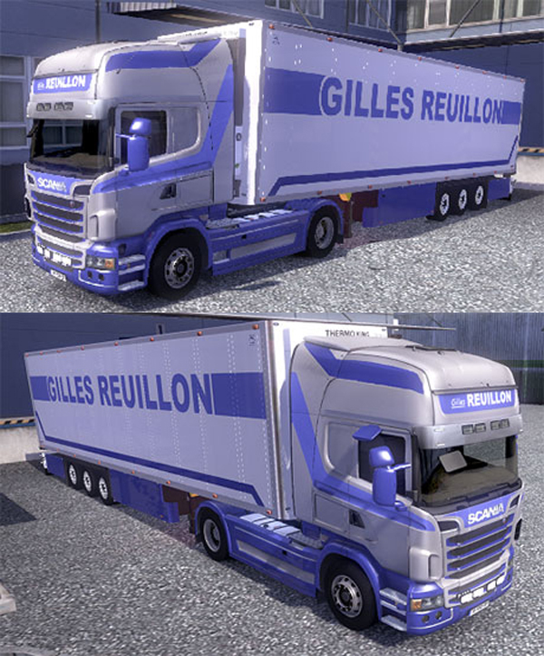 Scania + trailer Reuillon skin