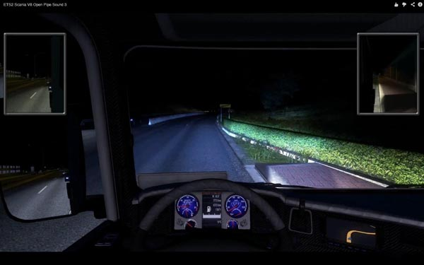 Scania V8 Open Pipe Sound 3