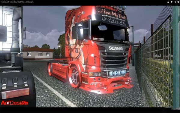 Scania V8 Turbo Sound