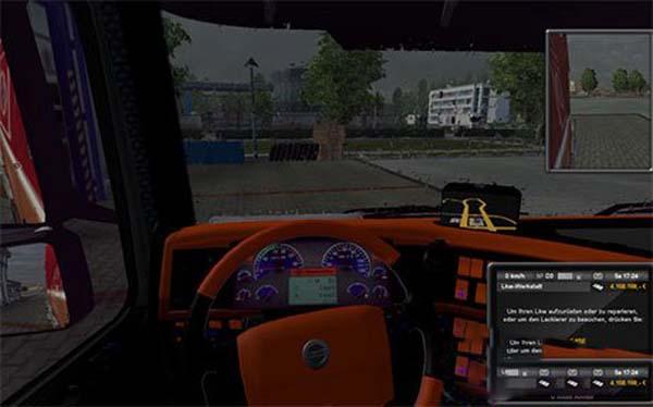 Volvo orange interior