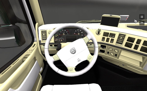 Volvo white Interior