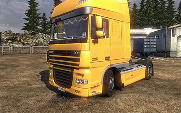 DAF XF 105 with interior