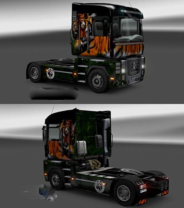 Renault Magnum Tiger Skin