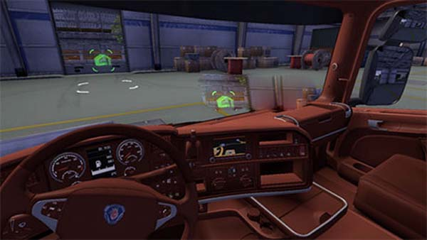 Scania brown interior