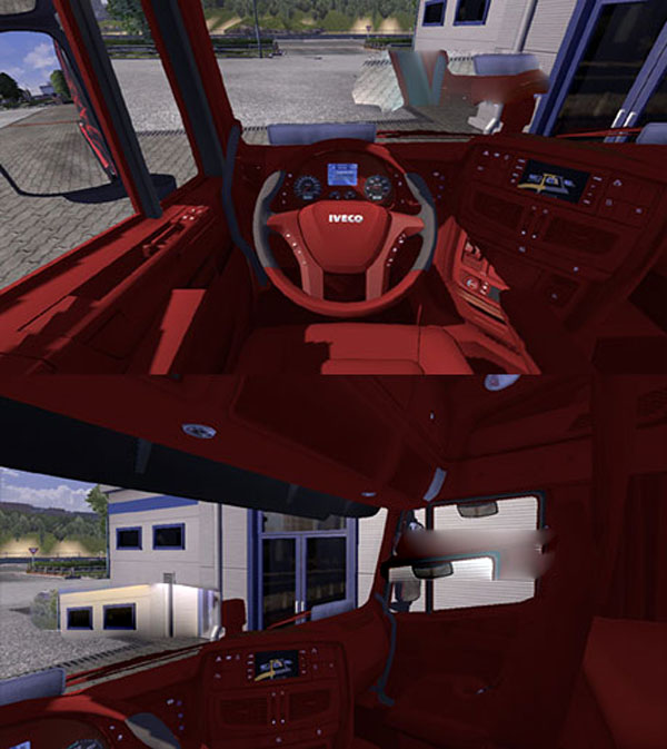 IVECO Hiway red interior