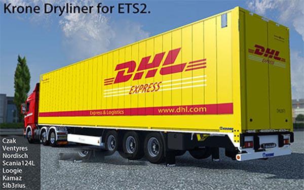 Krone Dryliner trailer