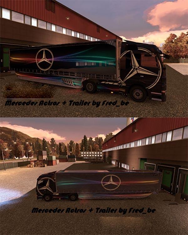 Mercedes Actros + Trailer