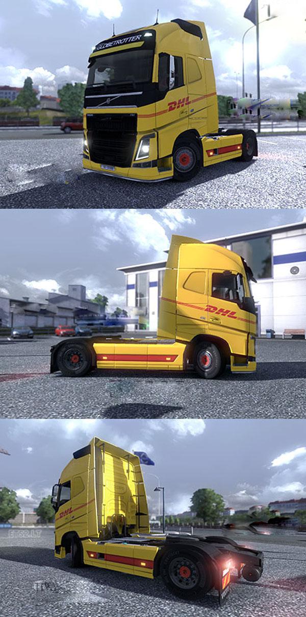New Volvo FH16 DHL skin