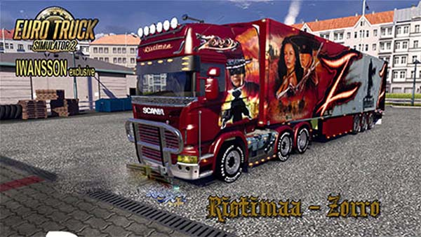 Ristimaa Zorro skin for Scania+Schmitz trailer